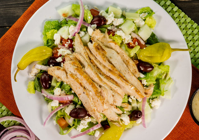 Mediterranean Chicken Salad Lunch