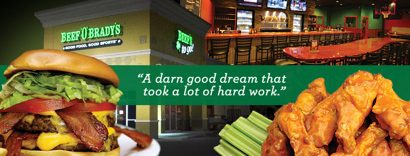 family and kid friendly restaurants, a darn good dream that took a lot of hard work.