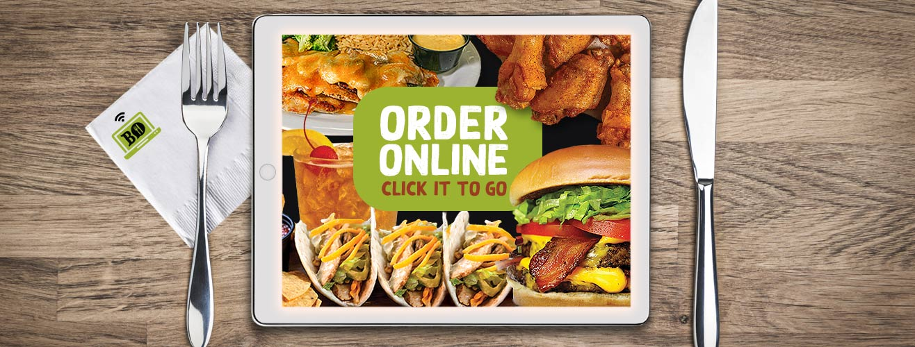Order online. Click it to go.