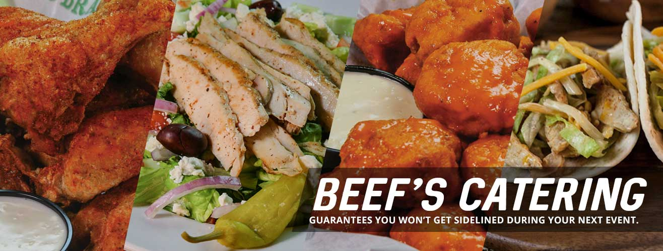 Beef's Catering guarantees you won't get sidelined during your next event.