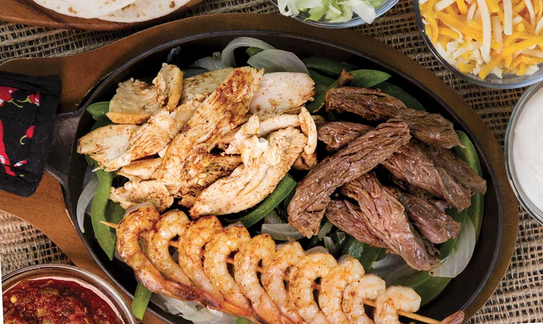 Trio Fajitas - Chicken, Steak & Shrimp