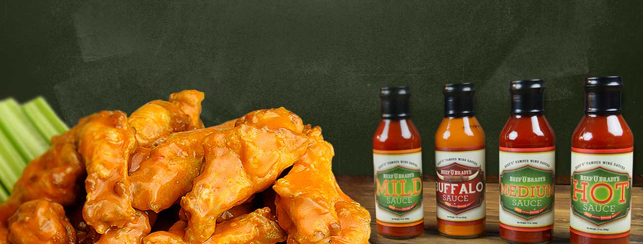 Beef 'O' Brady's Award Winning Wings and Sauces