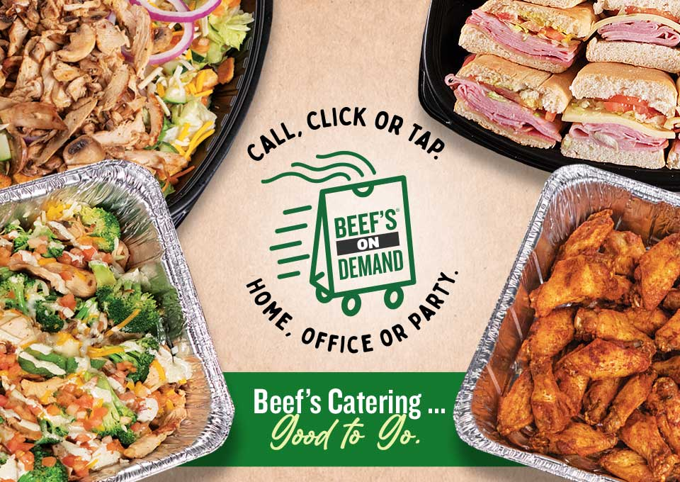 Beef's Catering.