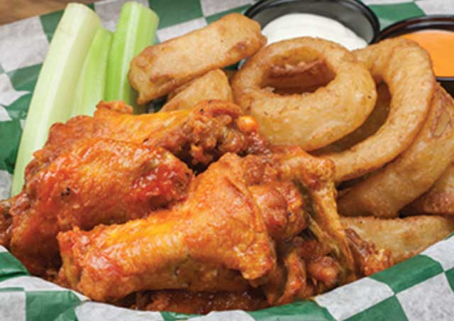 Wings & Onion Rings